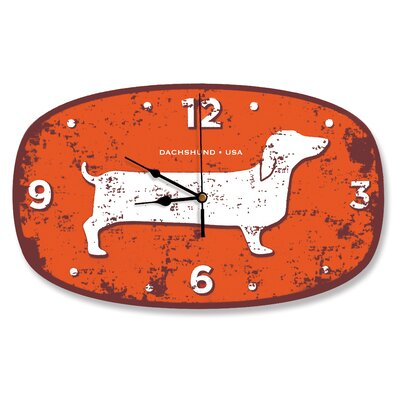 Naked Decor Dachshund USA Wall Clock