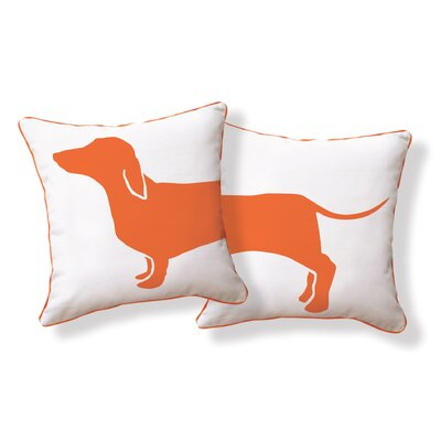 Naked Decor Hot Dog Happy Solid Reversible Pillow