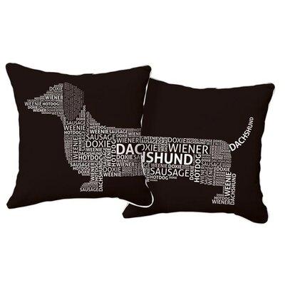 Naked Decor Dachshund Typography Pillow