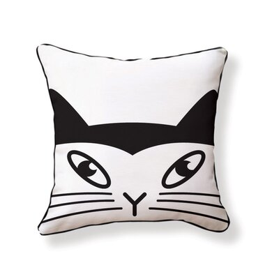 Naked Decor Japanese Lucky Cat Double Sided Cotton Pillow