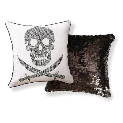 Naked Decor Skull Double Sided Cotton Pillow