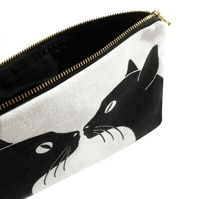 Naked Decor Kissing Cats Amenity Bag