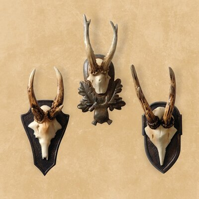 Naked Decor State Hall Roe Deer Wall Plaques (Set of 3)