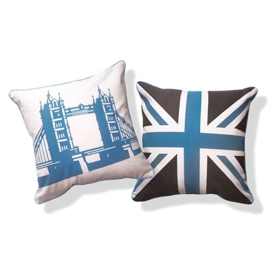 <strong>Naked Decor</strong> British Invasion Reversible Tower Bridge of London Pillow