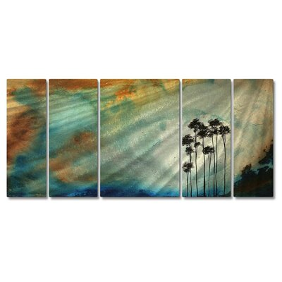 "All My Walls Tall Trees In The Sun by Megan Duncanson, Abstract Wall Art - 23.5"" x 52"""