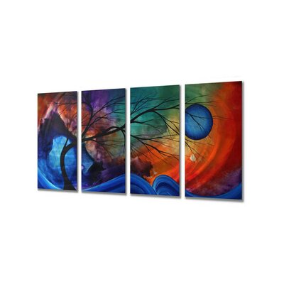 "All My Walls Cosmic Collision by Megan Duncanson, Abstract Wall Art - 23.5"" x 48"""