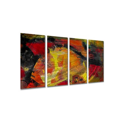 "All My Walls Ignited by Ruth Palmer, Abstract Wall Art - 23.5"" x 48"""