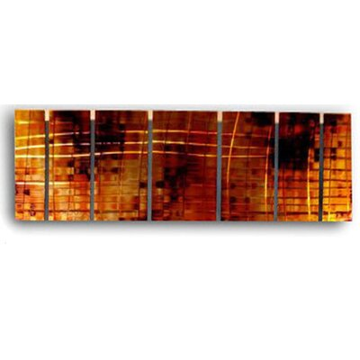 "All My Walls Abstract by Ash Carl Metal Wall Art in Red - 23.5"" x 60"""