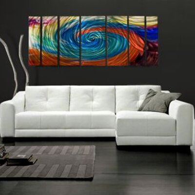 Abstract by Ash Carl Metal Wall Art in Tie Dye - 23.5