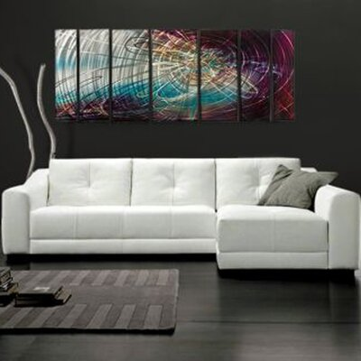 Abstract by Ash Carl Metal Wall Art in Gray Multi - 23.5