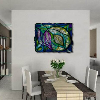 "All My Walls Stained Swirls Abstract Wall Art - 23.5"" x 30.5"""