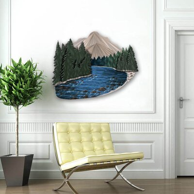 "All My Walls Mountain Stream Contemporary Wall Art - 27"" x 32"""