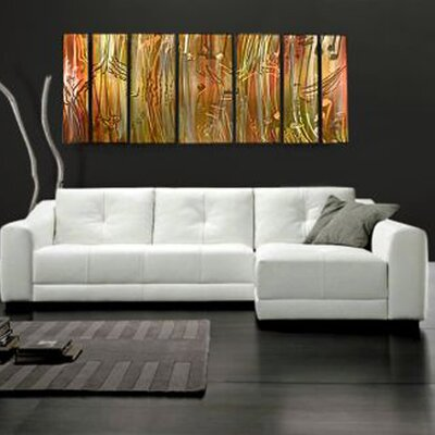 "All My Walls Abstract by Ash Carl Metal Wall Art in Metallic - 23.5"" x 60"""