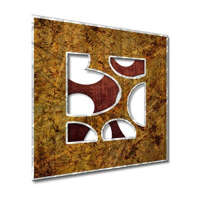 All My Walls Abstract Window II Metal Wall Art