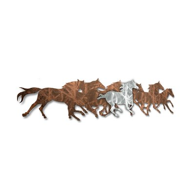Wild Horses Metal Wall Sculpture