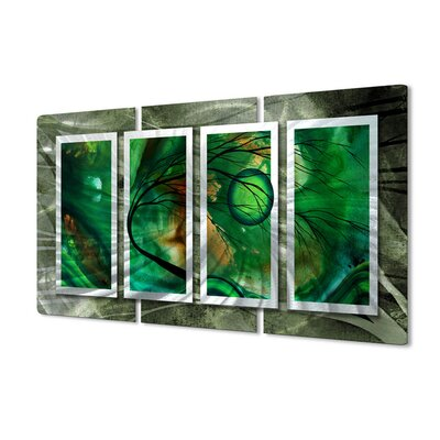 All My Walls Emerald Glow II Metal Wall Art