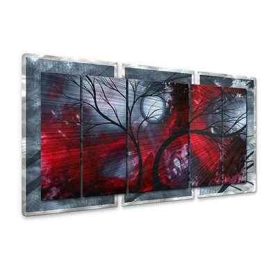 Crimson Night II Wall Sculpture
