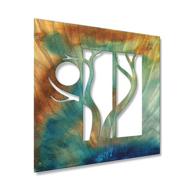 Sunset Forest Metal Wall Hanging