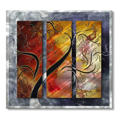 'Golden Sunrise' by Megan Duncanson Original Painting on Metal Plaque