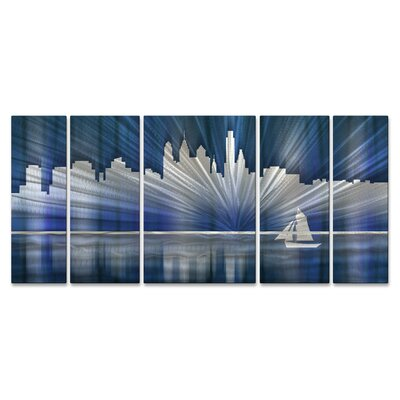 All My Walls Philadelphia Skyline Metal Wall Sculpture