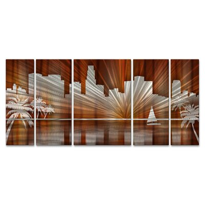Los Angeles Skyline Metal Wall Hanging