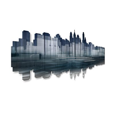 All My Walls Philadelphia Reflection Metal Wall Art