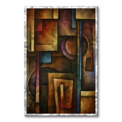 'The Future' by Michael Lang Original Painting on Metal Plaque