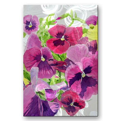'Pansie' by Cindy Gilbane Original Painting on Metal Plaque