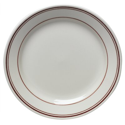"Homer Laughlin Diner Banded 9"" Luncheon Plate"