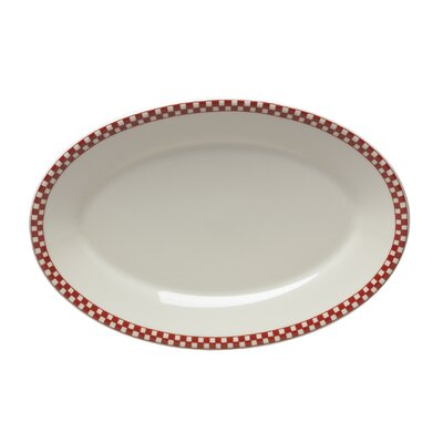 "Homer Laughlin Diner Check 13.65"" Oval Platter"