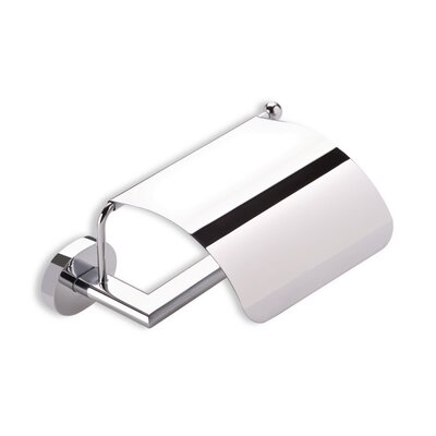 Stilhaus by Nameeks Diana Wall Mounted Toilet Roll Holder with Cover in Chrome