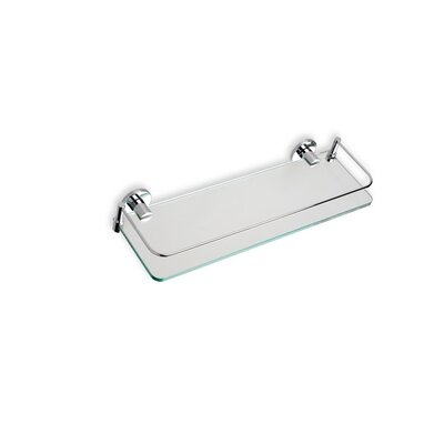 Stilhaus by Nameeks Medea Wall Mounted Clear Glass Shelf in Chrome
