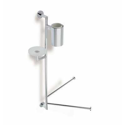 Stilhaus by Nameeks Medea Wall Mounted Bathroom Butler in Chrome