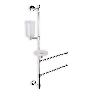 Stilhaus by Nameeks Pegaso Wall Mounted Bathroom Butler in Chrome
