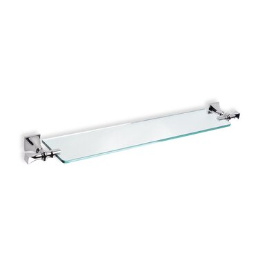 Stilhaus by Nameeks Prisma Classic Style Wall Mounted Clear Glass Shelf in Chrome