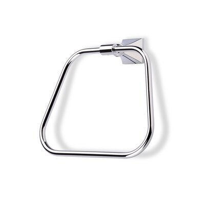 Stilhaus by Nameeks Prisma Classic Style Wall Mounted Towel Ring in Chrome