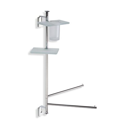Stilhaus by Nameeks Quid Wall Mounted Three Function Bathroom Butler in Chrome