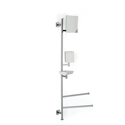 "Stilhaus by Nameeks Urania 31"" Wall Mounted Four Function Bathroom Butler in Chrome"