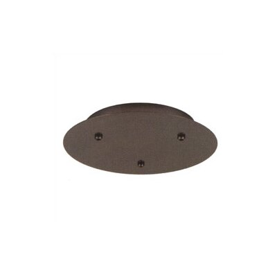 LBL Lighting Fusion Jack Three Port Round Canopy in Satin Nickel