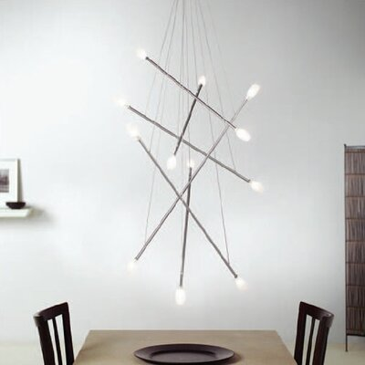 LBL Lighting Batons 12 Light Chandelier