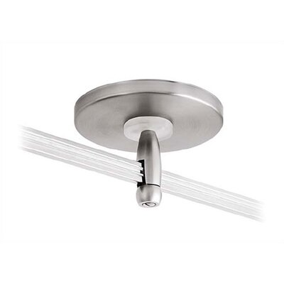 "LBL Lighting 4"" Single Feed Direct Power Feed Canopy for LED Monorail"