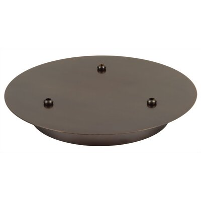LBL Lighting Three Port Round Canopy in Bronze