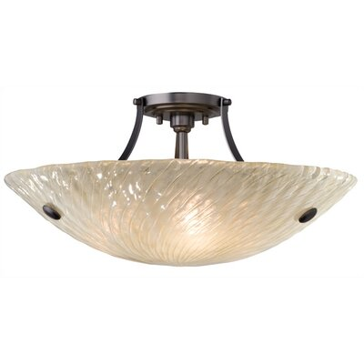 LBL Lighting Ambra 3 Light Semi Flush Mount