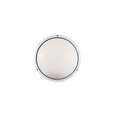 LBL Lighting Geoform 120V Two Light Round Ring Outdoor Wall Sconce in White