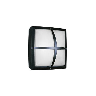 LBL Lighting Geoform 120V Two Light Square Ring Outdoor Fluorescent Wall Sconce in Silver