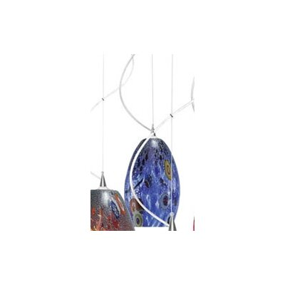 LBL Lighting Monty Mouth Blown Murano 1 Light Pendant