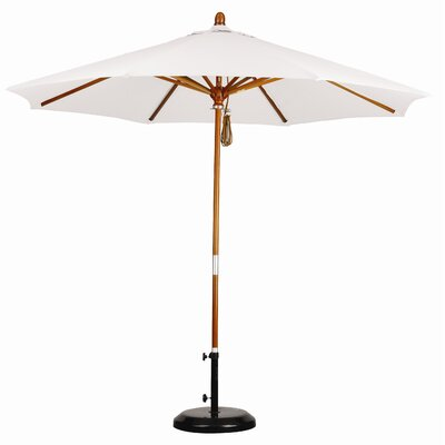 California Umbrella 9' Wood Market Umbrella