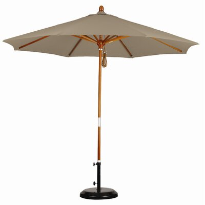 9' Wood Market Umbrella