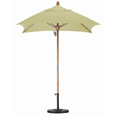 6' Square Fiberglass Market Umbrella