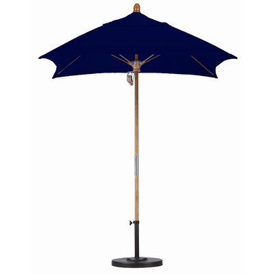 California Umbrella 6' Square Fiberglass Market Umbrella